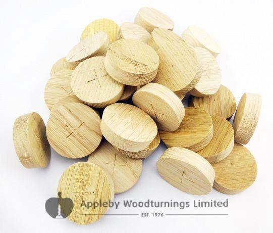 40mm English Oak Tapered Wooden Plugs 100pcs