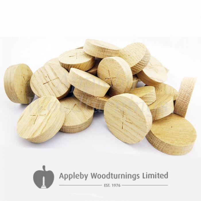 42mm American White Oak Tapered Wooden Plugs 100pcs