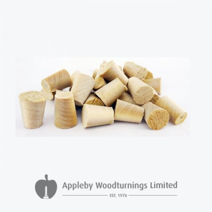 """3/8"""" Birch Tapered Wooden Plugs 100pcs"""