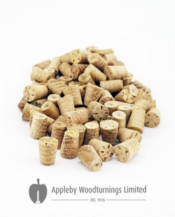 10mm European Oak Tapered Wooden Plugs 100pcs