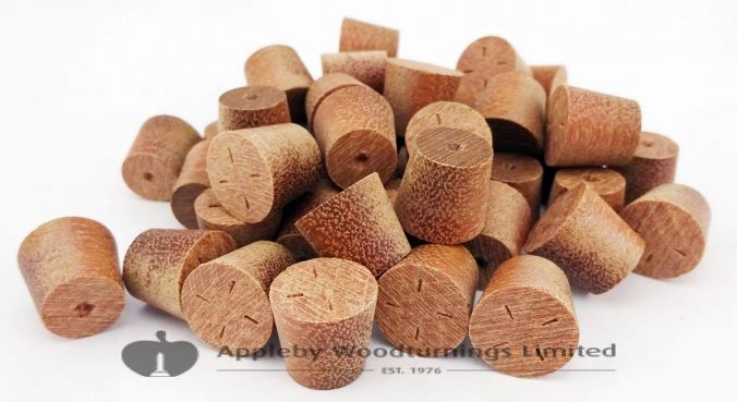 11mm Massaranduba Tapered Wooden Plugs 100pcs