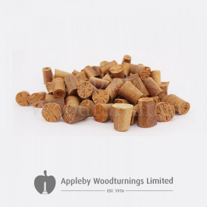 11mm Sapele Tapered Wooden Plugs 100pcs