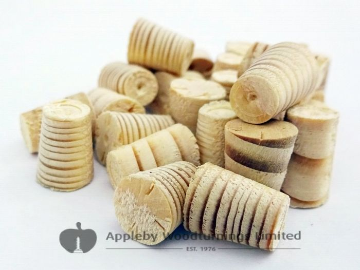 """3/8"""" Spruce Tapered Wooden Plugs 100pcs"""