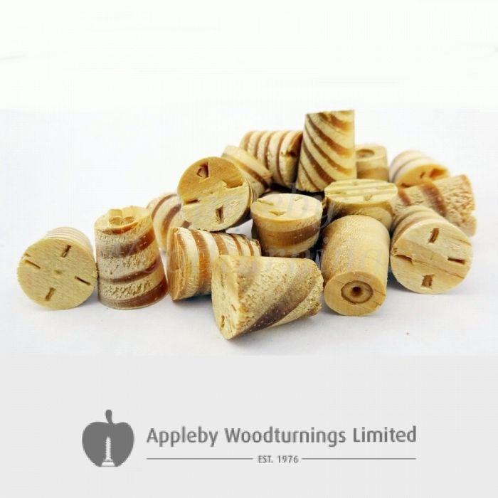 "1/2"" Southern Yellow Pine Tapered Wooden Plugs 100pcs"