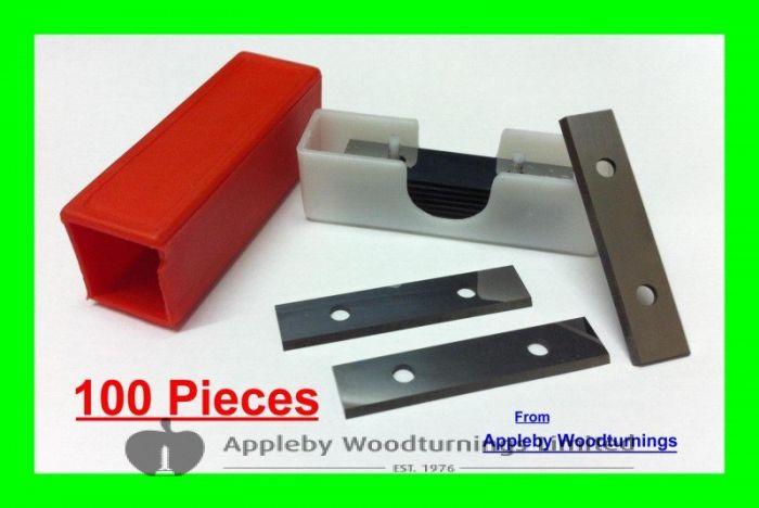 "10 Boxes (100pcs) 50mm 2"" Carbide Scraper Blades for Stanley Scrapers"