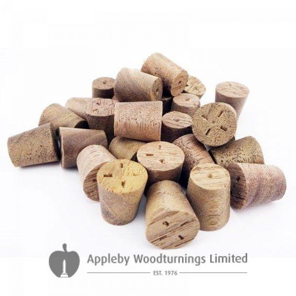 10mm American Black Walnut Tapered Wooden Plugs 100pcs