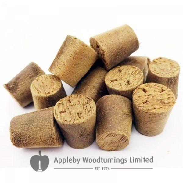 10mm American Brown Walnut Tapered Wooden Plugs 100pcs