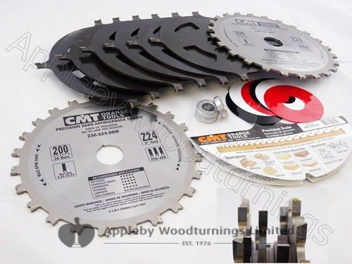 200mm Z=24 30mm Bore Dado / Trenching Saw Blade CMT