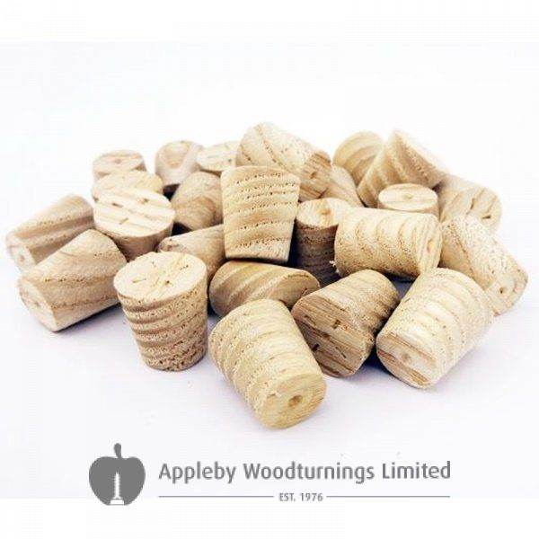 10mm Ash American White Tapered Wooden Plugs 100pcs