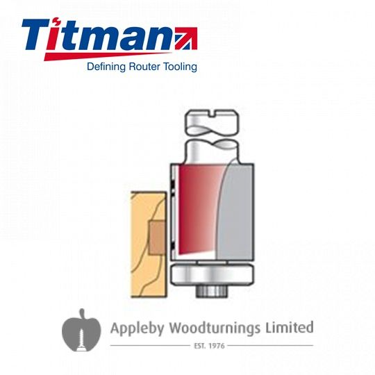 "1/2"" Titman TCT 90deg Bearing Guide Edge Trimmer"