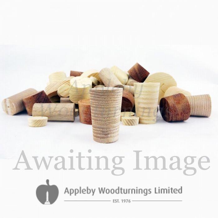 12mm Dark Ash Tapered Wooden Plugs 100pcs