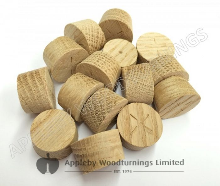 17mm American White Oak Tapered Wooden Plugs 100pcs