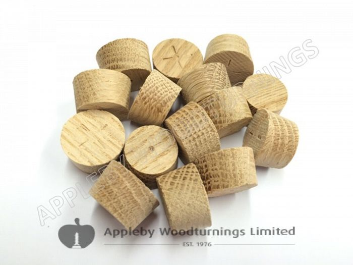 20mm American White Oak Tapered Wooden Plugs 100pcs