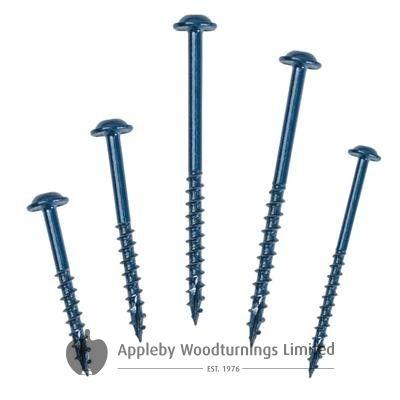 1,000 SCREWS 2 1/2 Inch Kreg Blue Kote SML-C250B Washer Heads 64mm