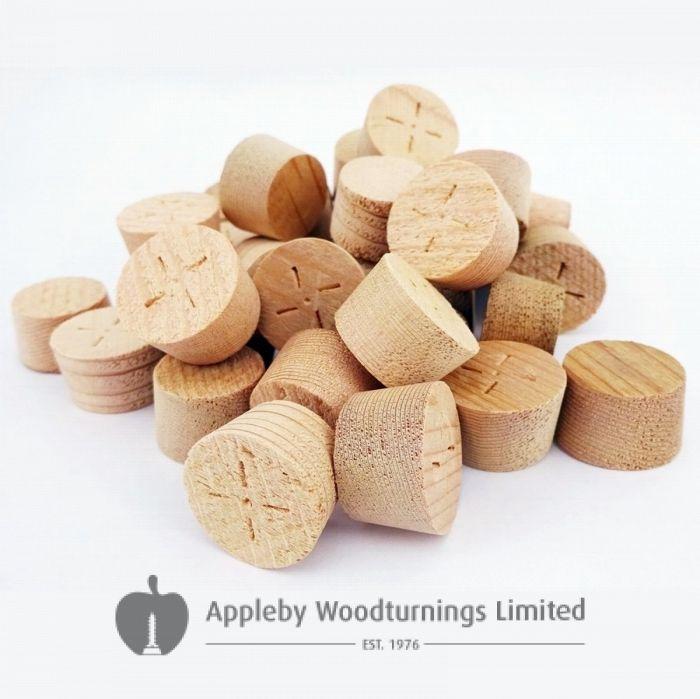15mm CEDAR Tapered Wooden Plugs 100pcs