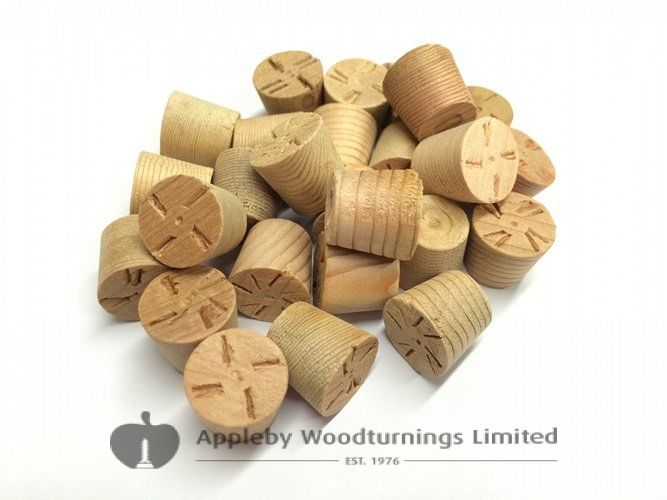 "1/2"" Cedar Tapered Wooden Plugs 100pcs"
