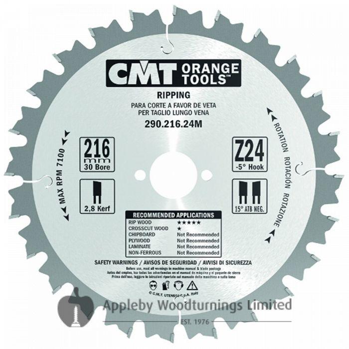 250mm Z=40 ATB Id=30 CMT Table / Rip Saw Blade 285.040.10M