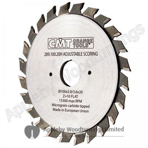 120mm Z=12+12 Id=20 CMT Adjustable Split Scoring Saw Blade