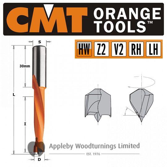 12mm x 77mm Lip & Spur Dowel Drill Bit L/H CMT