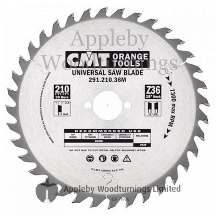 240mm Z=36 Id=30 CMT Hand Held / Portable Saw Blade To Fit Festool AP85