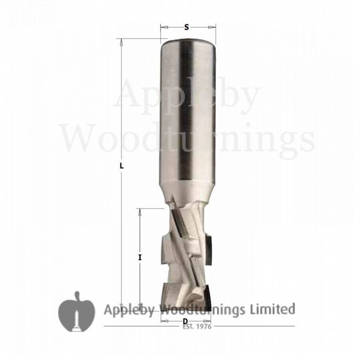 20mm dia x 36mm cut CNC PCD Diamond Router Z=2+2 S=20 with 2.5mm Tip Depth R/H Kyocera