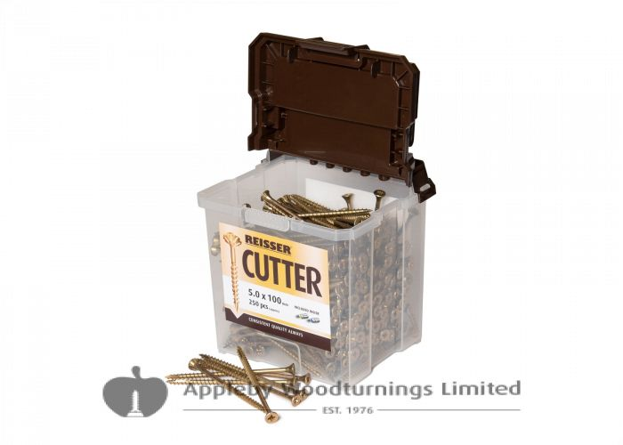 4.5 x 80mm Reisser CUTTER Woodscrews 450pc TUB