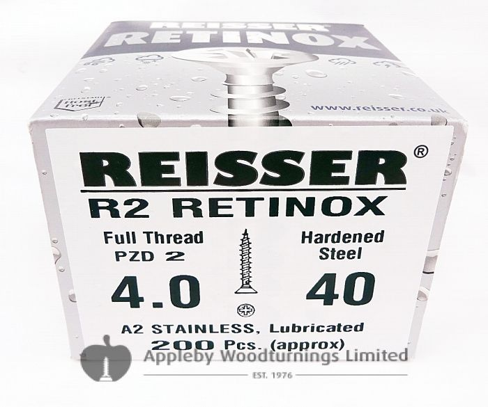 Reisser R2 Retinox Stainless Steel Wood Screws 4.0mm x 40mm 200pcs