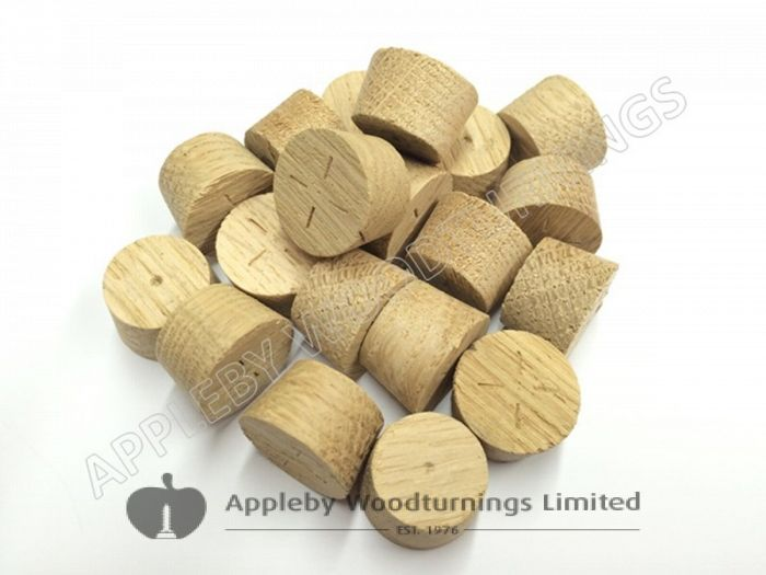 19mm European Oak Tapered Wood Pellets 100pcs