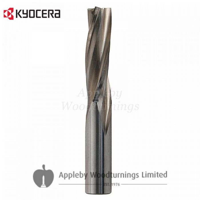 16mm dia x 55mm cut CNC S=16mm Finishing Spiral Router Z=3 Negative L/H Unimerco