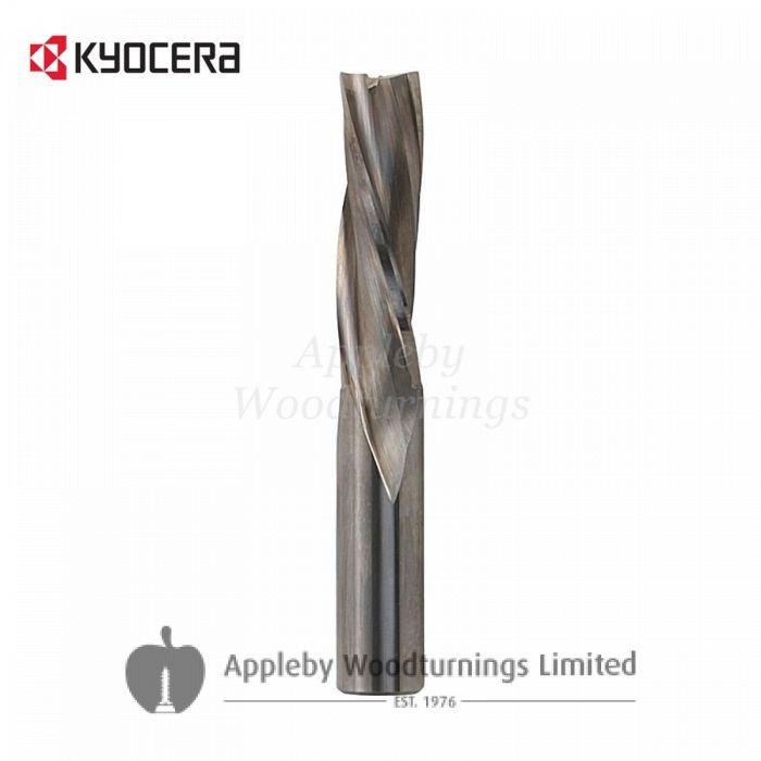 16mm dia x 55mm cut CNC S=16mm Finishing Spiral Router Z=3 Negative R/H Kyocera