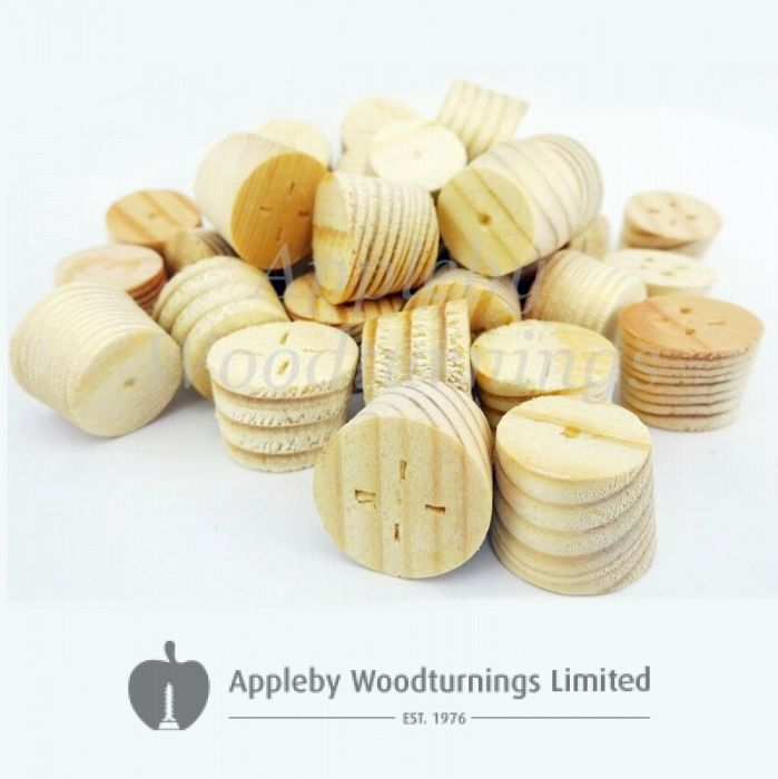 27mm Softwood / Pine Tapered Wooden Plugs 100pcs