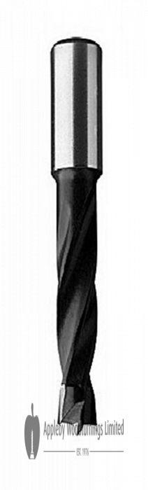 10.5mm x 77mm Lip & Spur Dowel Drill Bit R/H Kyocera Unimerco