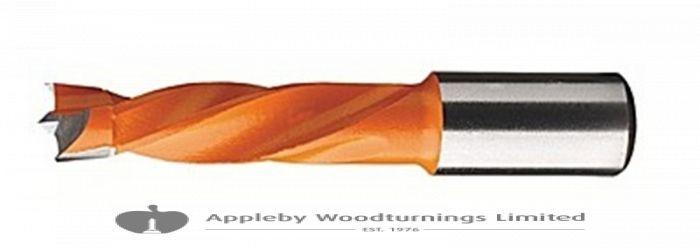 14mm x 57mm Lip & Spur Dowel Drill Bit L/H Kyocera Unimerco