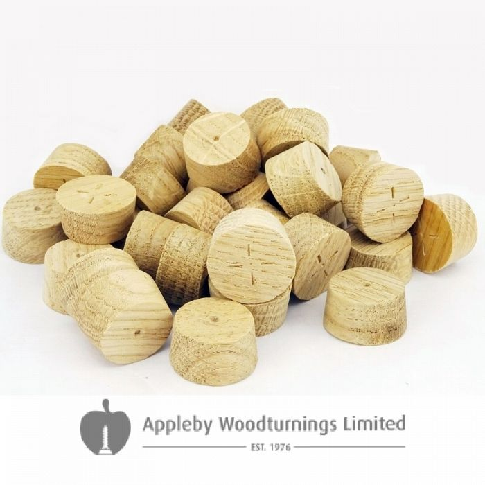 16mm English Oak Tapered Wooden Plugs 100pcs