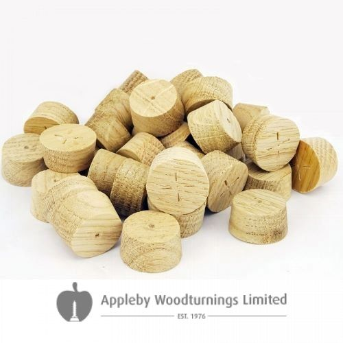 28mm English Oak Tapered Wooden Plugs 100pcs