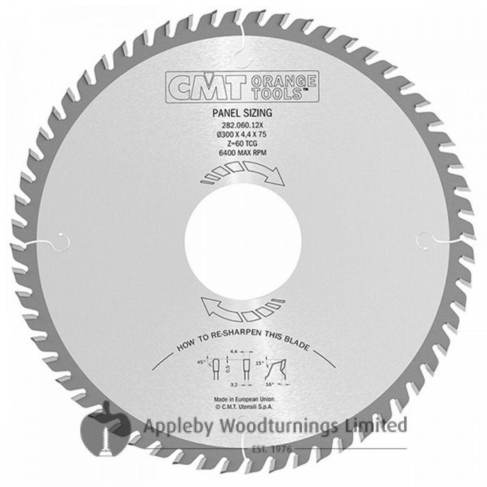300mm Z=72 Triple Chip (TRI) Id=30 CMT Panel Sizing Saw Blade
