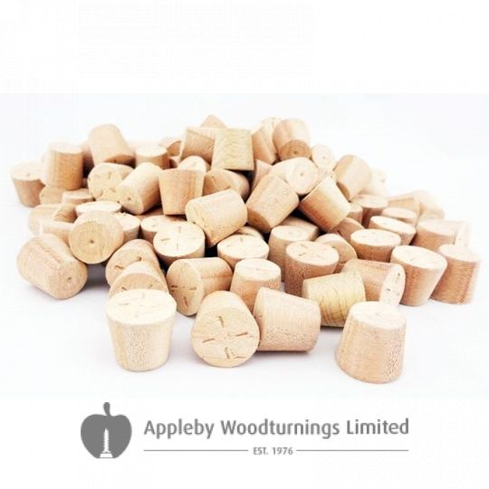 10mm Red Grandis Tapered Wooden Plugs 100pcs
