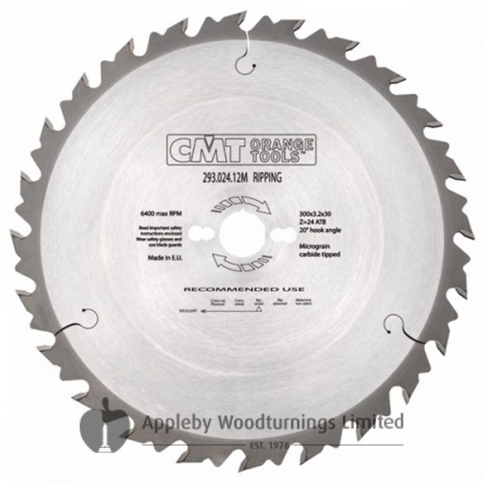 190mm Z=24 ATB Id=16 CMT Table / Rip Saw Blade 291.190.24E