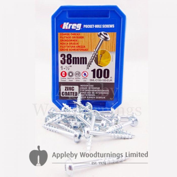 C150-100 Pocket Screws 1-1//2-Inch 8 Coarse Washer-Head 100-Count Coarse Thread