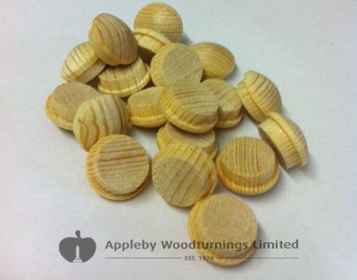 1/4 Inch Softwood Button Head Mushroom Screw Cover Plugs 100pcs