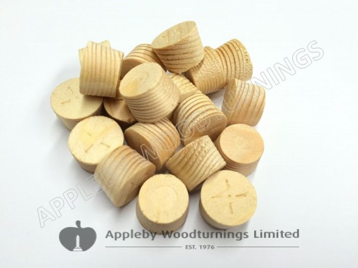 19mm Softwood / Pine Tapered Wood Pellets 100pcs
