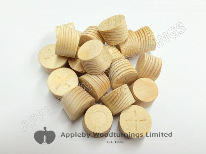 21mm Softwood / Pine Tapered Wooden Plugs 100pcs