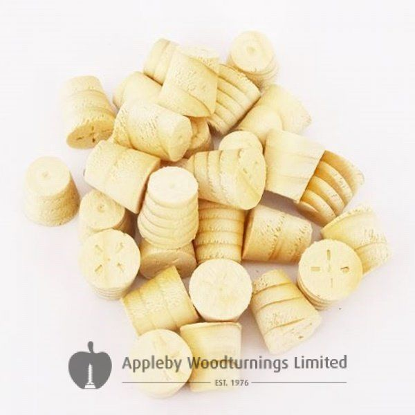 10mm Spruce Tapered Wooden Plugs 100pcs