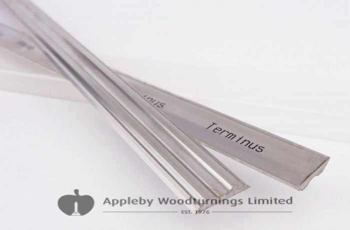 130mm x 14mm x 2.5mm HSS Terminus Double Edged Re-sharpenable Planer Blades - 1 Pair