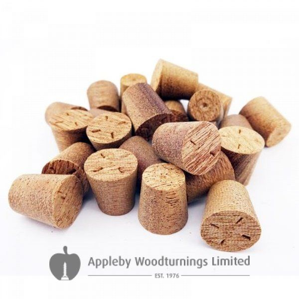 10mm Sapele Tapered Wooden Plugs 100pcs