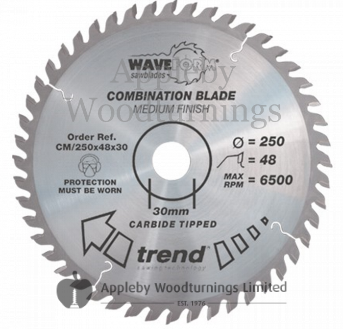 190mm Z=36 Id=30 TREND Industrial Portable / Hand Held Saw Blade To Fit Festool AP65