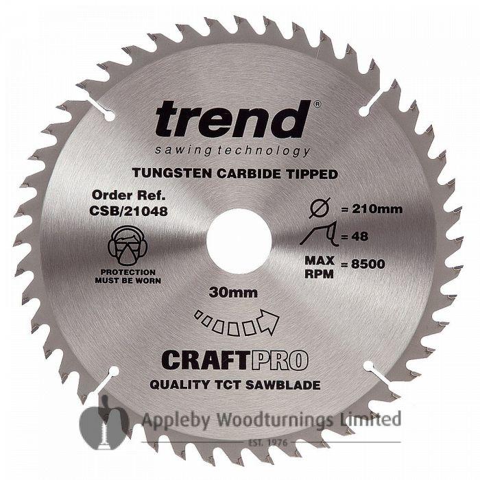 260mm Z=60 Trend CRAFTPRO Mitre / Cross Saw Blade Id=30mm CSB/CCTC26060