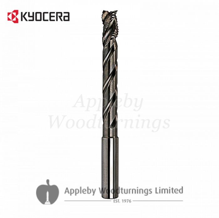 12mm dia x 55mm reach CNC S=12mm Lockcase Spiral Router 2 Flute Positive R/H Kyocera