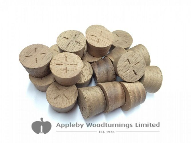 21mm American Black Walnut Tapered Wooden Plugs 100pcs
