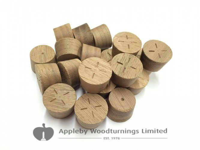 20mm American Black Walnut Tapered Wooden Plugs 100pcs